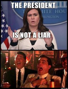 Oh Please, Sarah Huckabee Sanders! --- We can rely on common sense and logic, or go to any fact check site -- the reality is that Trump is nothing but a serial, pathological liar!!