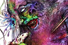 Cavity Colors – view more (grotesque) images @ http://www.juxtapoz.com/Illustration/cavity-colors – #illustrations #rateater #aaroncrawford