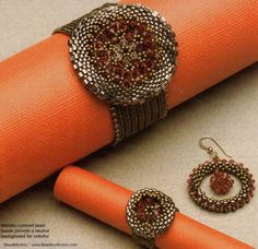 Round Set tutorial  //  Blogg 15 Января 2013 = January 15, 2013 // bracelet, earrings and ring, as well pendant