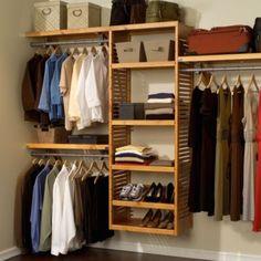 John Louis Home Honey Maple Deluxe Closet Organizer - BedBathandBeyond.com