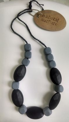 Silicone Teething Necklace (Food Grade Silicone) on Etsy, $20.00