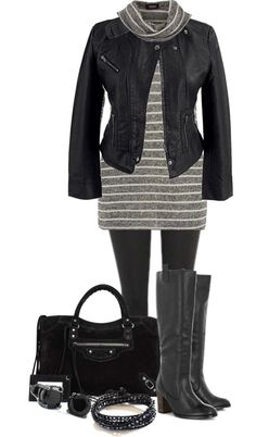 Black & Grey - Plus Size
