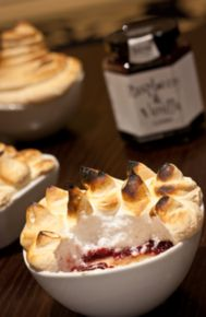 Queen of Puddings with Hawkshead Relish Raspberry and Vanilla Jam