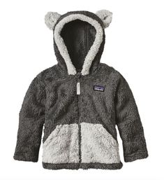 Patagonia Baby Furry Friends Hoody - Forge Grey