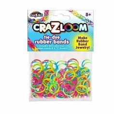 Amazon.com: Cra-Z-Loom 200 Count Tie Dye Rubber Bands: Toys  Games