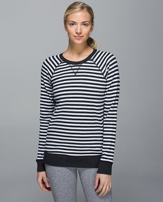 Open Your Heart LS II Wide Load stripe heathered black white
