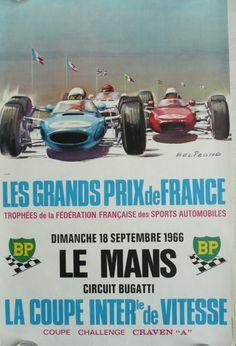 Affiche+originale+Le+Mans+grands+prix+de+France+1966+-+Michel+BELIGOND