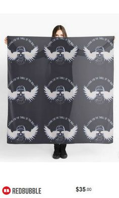 'Living for the Thrill of the Ride' Biker Scarf #artbyurte
