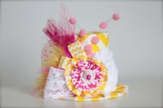 Pink Lemonade Inspired Birthday  Mini Top Hat by LilBirdsCouture, $24.00