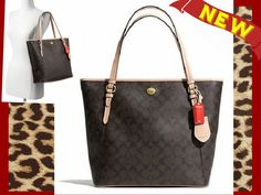 *New Release* NWT Peyton Signature Zip Top Tote. Starting at $22 on Tophatter.com!