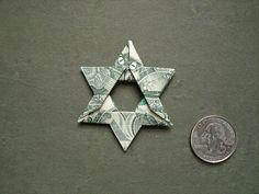 dollar origami star of david