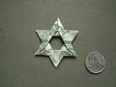 dollar origami star of david