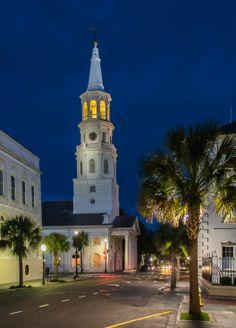St. Michaels Church in Charleston, South Carolina - one of the 83 churches located in the 3 square miles of the city, which is why Charleston is also known as the Holy City!