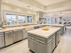 Kitchen in Jennifer Lopez's California mansion