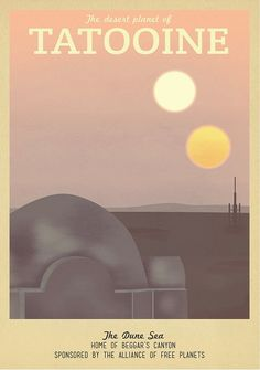 19 Geeky Travel Posters Of Your Favorite Imaginary Locations