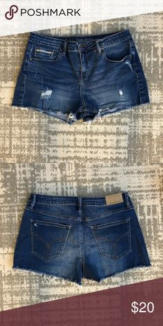 Calvin Klein distressed denim shorts size 31 Calvin Klein Jeans jean denim cutoff shorts. Just purchase — worn and washed once (lost weight and they're just too big on me). Size 31. Calvin Klein Jeans Shorts Jean Shorts