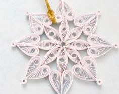 quilled snowflake – Etsy