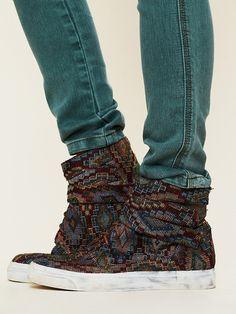 Free People Teagan Tapestry Sneaker, $158.00