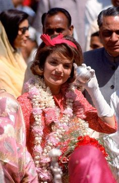 American first lady Jacqueline Kennedy during a state visit, Jaipur, India, 1962, photograph by Art Rickerby.