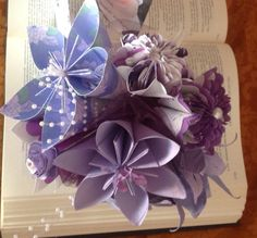Everlasting Bouquet With 5 Flowers and by GracelinePaperStudio
