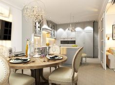 Классика в Саратове. Dining Table, Interior, Kitchen, Furniture, Home Decor, Cooking, Decoration Home, Indoor, Room Decor