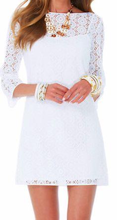 Lily Pulitzer, white lace, tunic dress