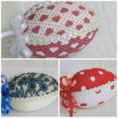 Easter egg set of 6 pieces/quilted egg/hang up by Gydesi on Etsy
