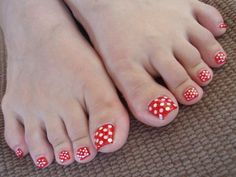 Disney Nail Art   good simple for the toes ;D