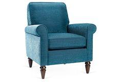 One Kings Lane - Serene Shine - Lindsey Chair, Teal
