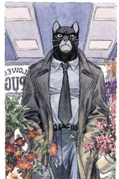 Blacksad going to beat a florist.