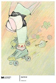 © MAITE OZ | Ilustración para la muestra Roller Derby de Ilustradores Argentinos | #rollerderby | Fotos: https://www.facebook.com/media/set/?set=a.725585730870003.1073741832.100296976732218&type=1