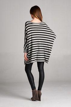 Stripe On Down Top #JessLeaBoutique