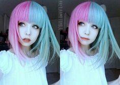 #halfandhalfdyedhair #halfdyedhair #hair ☆Anzujaamu★