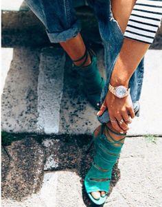 those green heels!