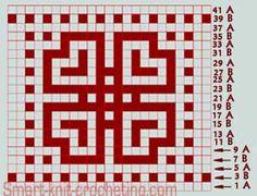 i don't understand mosaic knitting, but i like the pattern – knitting charts Fair Isle Knitting Patterns, Knitting Blogs, Knitting Charts, Knitting Stitches, Knitting Tutorials, Knitting Machine, Mosaic Patterns, Slip Stitch Knitting, Rugs