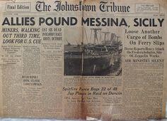 The Johnstown Tribune - World War II: June 21, 1943: ALLIES POUND MESSINA, SICILY