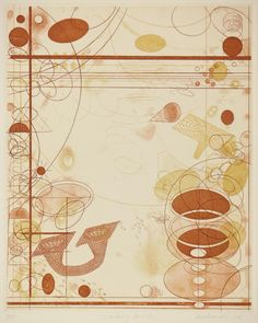 Rosalyn Richards / Looking Inside / etching / intaglio / abstract / color / printmaking / art / decor