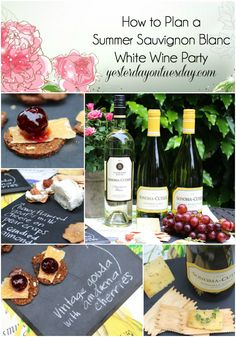 How to Plan a Summer Sauvignon Blanc White Wine Party including appetizer ideas! #ad