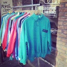 Eighties sweaters, vintage sport jackets. #eighties #vintagesweaters #sportjackets #marmod #vintageshop #secondhandclothing #ghent #brabantdam
