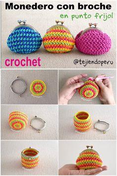 Marvelous Crochet A Shell Stitch Purse Bag Ideas. Wonderful Crochet A Shell Stitch Purse Bag Ideas. Crochet Wallet, Crochet Coin Purse, Bag Crochet, Crochet Diy, Crochet Handbags, Crochet Purses, Love Crochet, Crochet Gifts, Unique Crochet