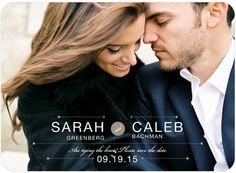 Signature White Photo Save the Date Cards Beautiful Bond - Front : Mist