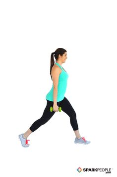 Stationary Lunges with Dumbbells Exercise Demonstration Torch your quads and glutes with this challenging move. Dumbbell Workout, Butt Workout, Kettlebell, Fitness Motivation, Fitness Tips, Fitness Models, Easy Workouts, Lunges, Workout Programs