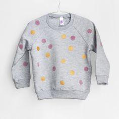 Sweatshirt Punkte grau von pom berlin auf DaWanda.com