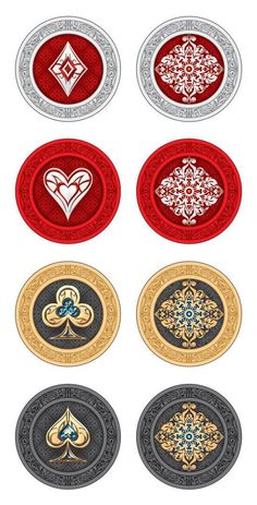 Ornate Playing cards | Ornates poker chips | Compliment your Orante poker game with these chips