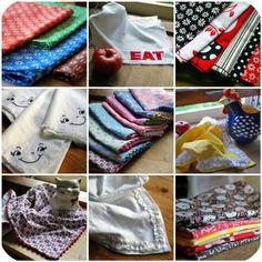 Tutorial & Pattern: Cloth Napkins 5 Ways (see also: http://kirtsy.com/2011/07/25/cloth-napkins-how-to/?kp=YToxOntzOjE6ImkiO2k6NDAyO30=)