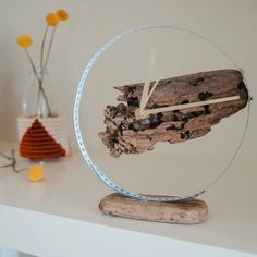 Driftwood clock-Uhr aus Treibholz Make a watch out of driftwood - Lampe Decoration, Driftwood Jewelry, Diy Tumblr, Diy Clock, Wood Clocks, Decorating Small Spaces, Diy Videos, Diy For Teens, Boho Decor