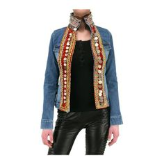 PHILIPP PLEIN - AFGHAN EMBROIDERY DENIM JACKET