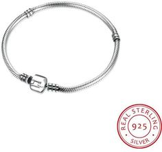 Ice .925 Sterling Silver Classic Simple Pandora Inspired Bracelet- Size 18