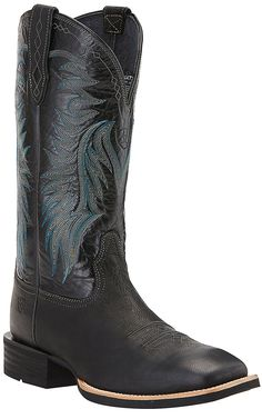 Ariat Men's Big Loop Pitch Black Double Welt Square Toe Western Boots | Cavender's