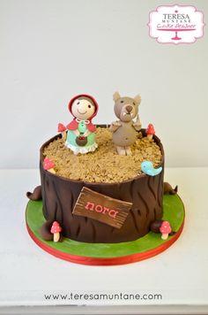 tarta fondant caperucita roja y lobo pastel teresa muntane cake designer barcelona 1